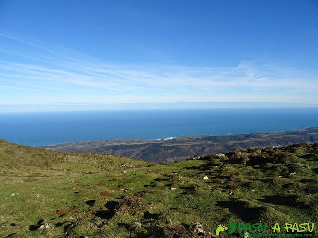 Mar Cantábrico desde la Sierra del Cuera