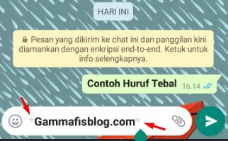 Mengubah Font WhatsApp Menjadi Tebal (Bold)