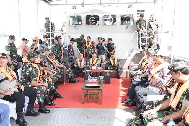 Panglima TNI Tinjau Latihan Koarmada I di Cilegon