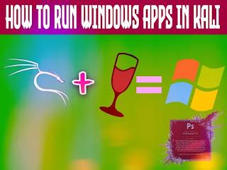 run windows apps in Kali Linux