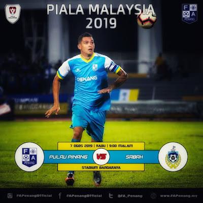 Live Streaming Penang Fa vs Sabah 7.8.2019 Piala Malaysia