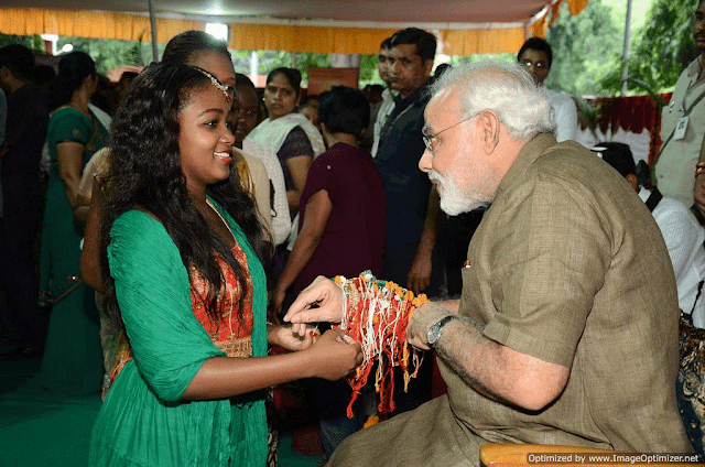 raksha bandhan wishes from narendra modi