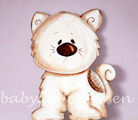silueta de madera infantil gatito babydelicatessen