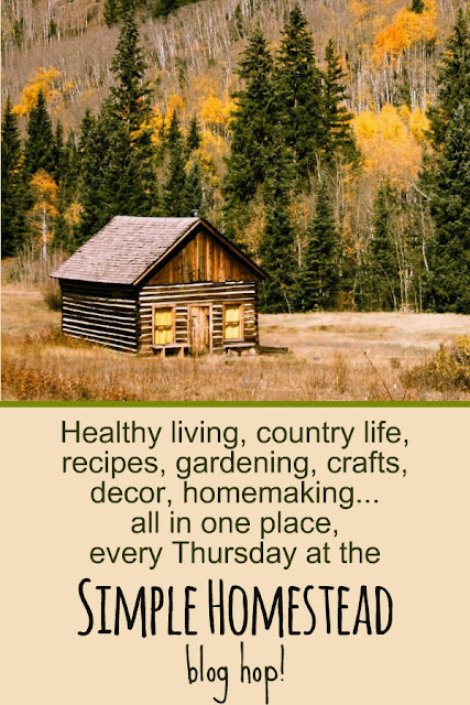 Country life, from-scratch cooking, gardening, crafts, recipes, homesteading, homemaking, homeschooling and more, every Thursday at the Simple Homestead blog hop.