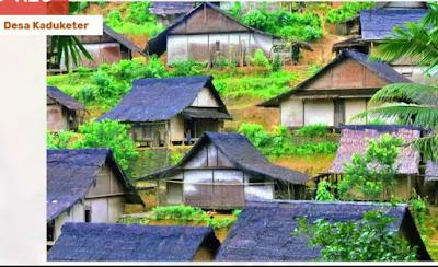 salah satu desa di baduy, desa kaduketer