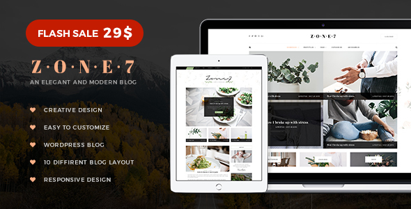 Zone 7 - An Elegant And Modern Blog WordPress Theme