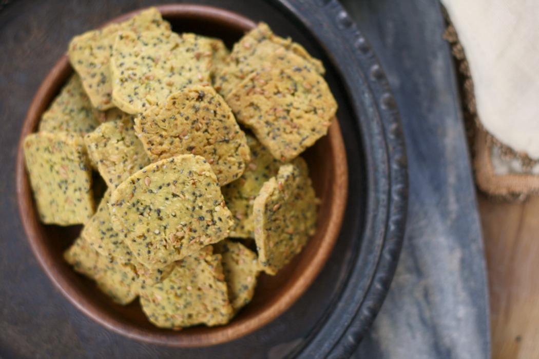Hemp-Chia-Flax Einkorn Crackers | #EinkornExperiment