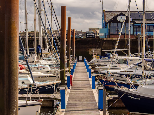 Photo of the same view when the marina gate is closed to keep water in the marina when the tide drops