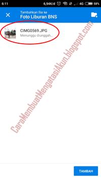 cara mengunggah file ke dropbox