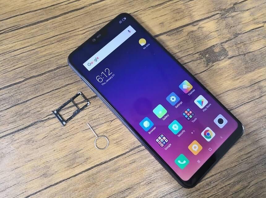 Xiaomi Mi 8 Lite Hybrid Card Tray