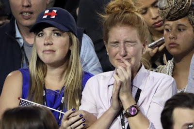 Image result for crying hillary supporters pic