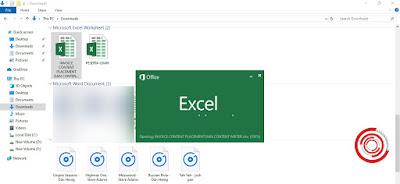 Maka akan langsung terbuka di aplikasi Microsoft Excel