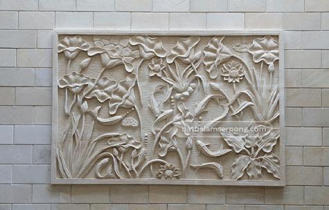 releif batu alam untuk dinding