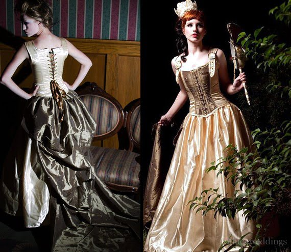 Steampunk Wedding Gowns: Custom Victorian Steampunk Bridal Gown For Ghost Town