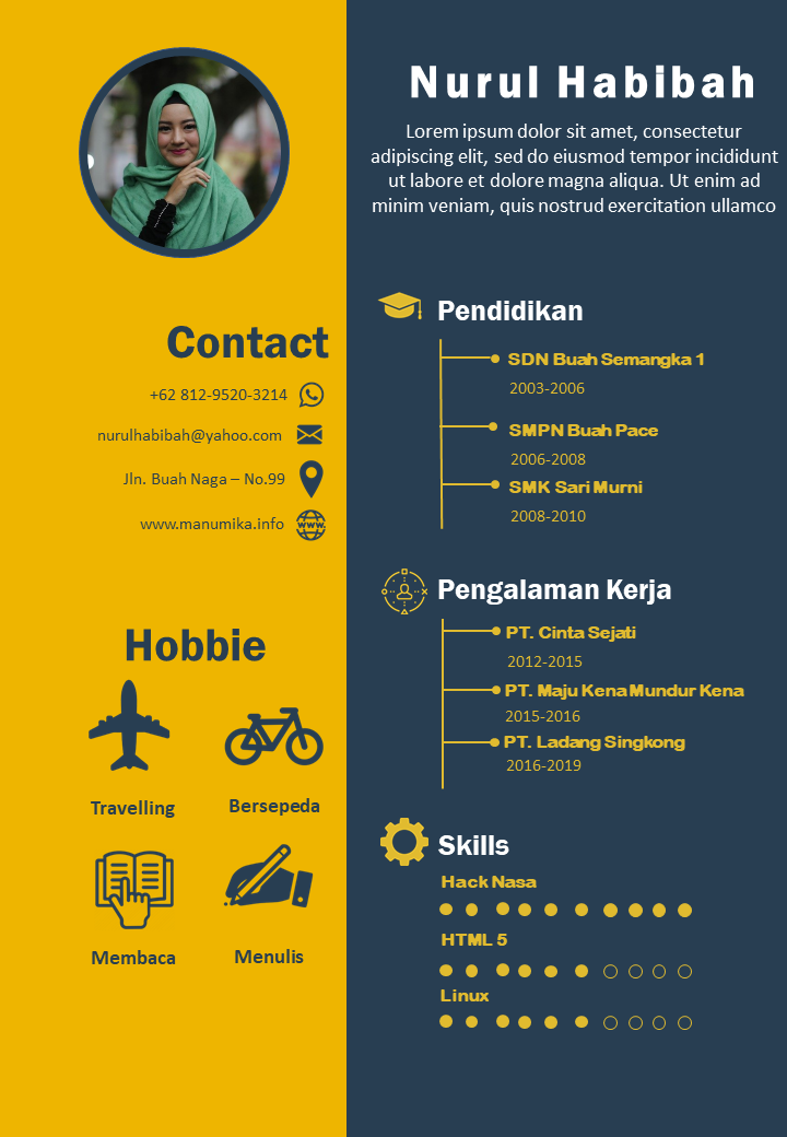 Membuat CV dengan Power Point