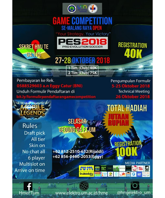 Lomba Game Competition 2018 Se-Malang Raya