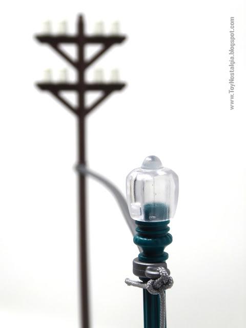 Poste telefónico y luminaria con cable para rayo Playmobil Regreso al Futuro - Calendario de Adviento (Playmobil Back To The Future - Calendario de Adviento)