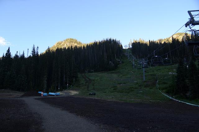 ski lift through the trees