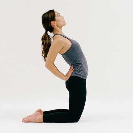 Camel Pose (YOGA)