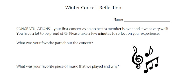 Winter concert reflection