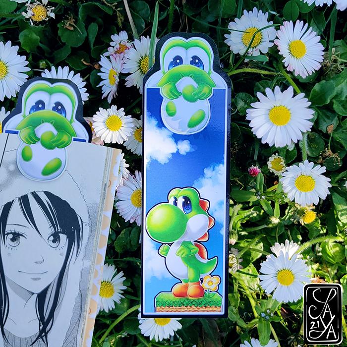 Chibi Yoshi Marque-page Bookmark Mario Saya's Art Clip Signet Fanart goodies