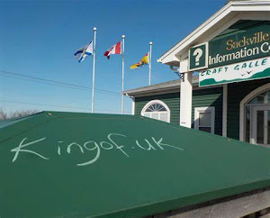 Kingof.UK artivism in New Brunswick..