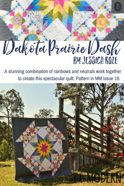 Make Modern Issue 19 Dakota Prairie Dash quilt Jessica Roze