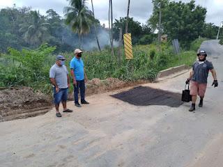 Tõ Justo comemora operação tapa buraco realizada pelo DER entre Guarabira e Pilõezinhos pedida por Raniery Paulino