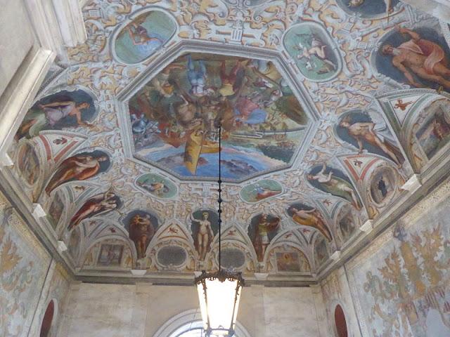 affresco nel salone di palazzo antonio doria spinola a Genova
