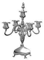 candelabra vintage illustration image home decor clipart