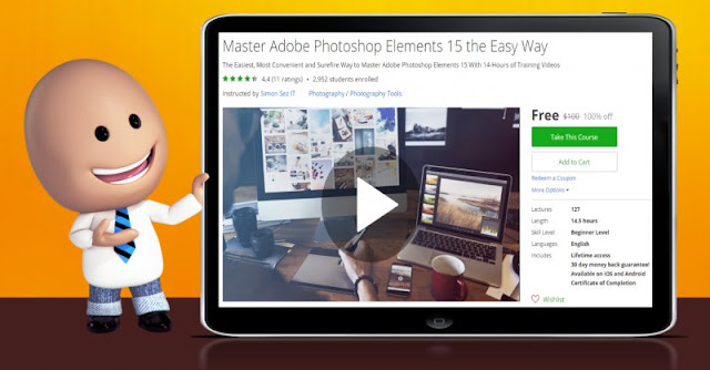 [100% Off] Master Adobe Photoshop Elements 15 the Easy Way|Worth 100$