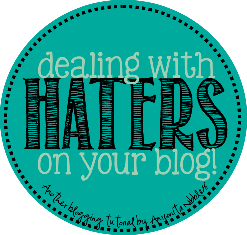 Use these four steps to successfully deal with the negativity from blog haters.