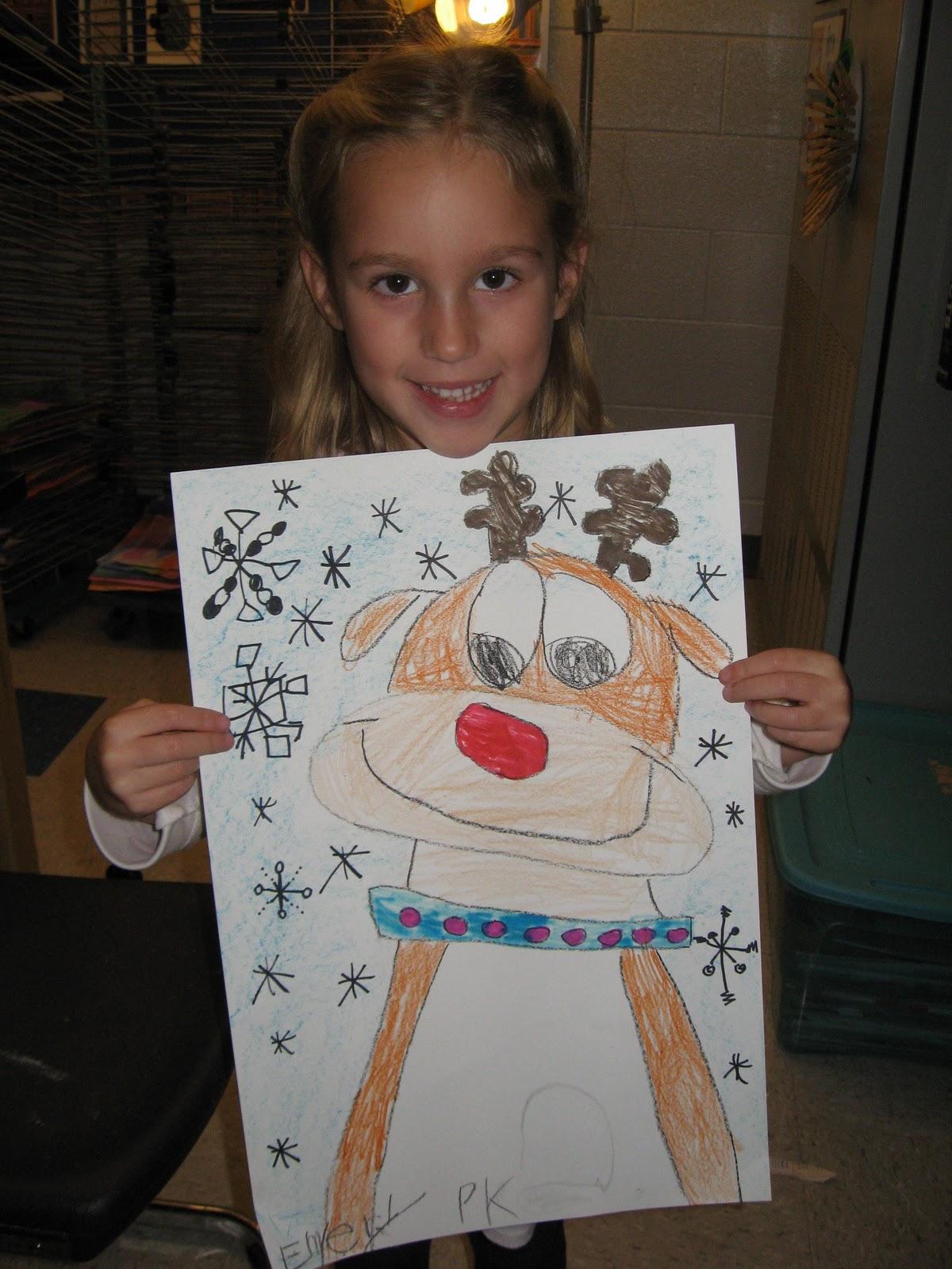 Jamestown Elementary Art Blog Kindergarten Reindeers