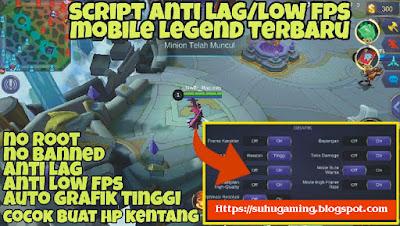 Script Anti Lag (Auto Ping Hijau) Dijamin Winstreak Main Ranked Mobile Legends