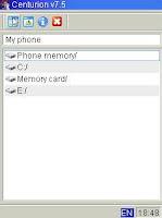 ডাউনলোড করুন Centurion File Manager 7.5: Java Phone এর শ্রেষ্ঠ সফটওয়ার