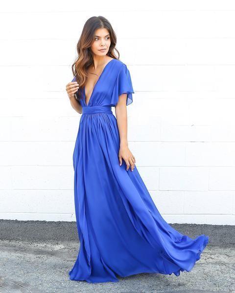 cobalt dress fashion