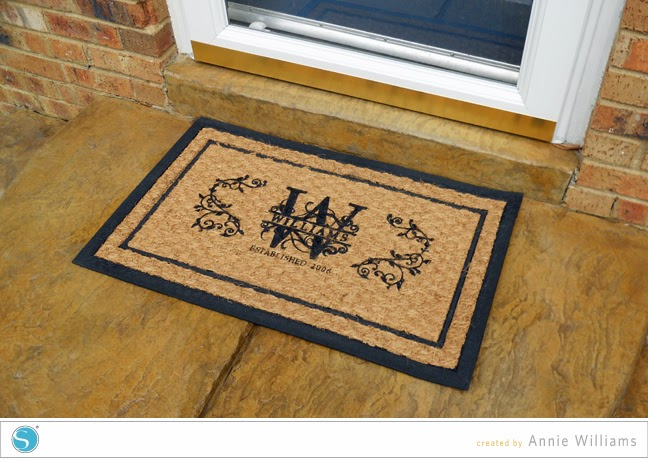 Silhouette idea, curb appeal, home, welcome mat