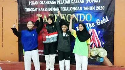 Putra-Putri TNI Brebes Juarai Sparring Taekwondo Dan Karate Popda Eks Karisidenan Pekalongan
