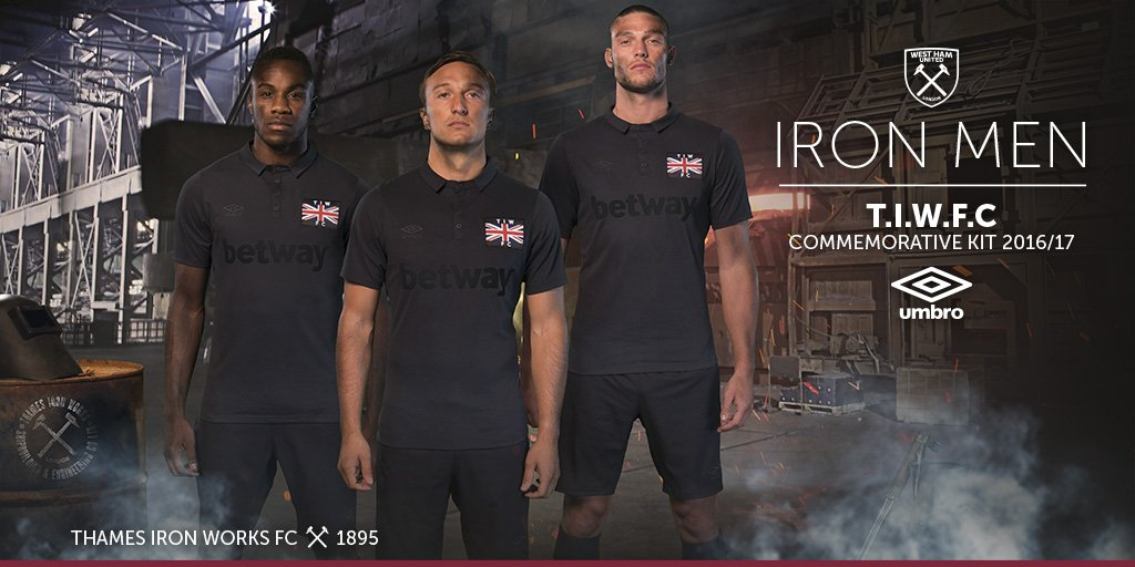 a157812eb The special West Ham United 2016 Thames Ironworks jersey boasts a stealth  look.
