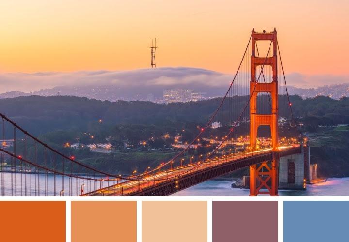 Golden Gate Color Palettes