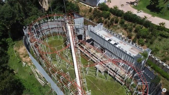 Novo parque de diversão em Cotia segue com obras avançadas! - Atualização 4