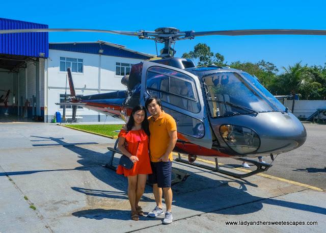 Helicopter ride in Rio de Janeiro
