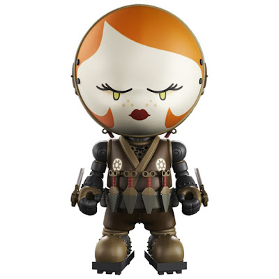 Peng Peng The Clockwork Assassin Gold Life Vinyl Figure by Huck Gee x Mighty Jaxx