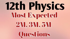 12th Physics Most expected Questions