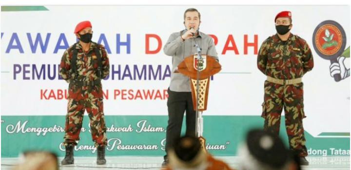 Bupati Dendi Ajak Pemuda Muhammadiyah Bersinergi