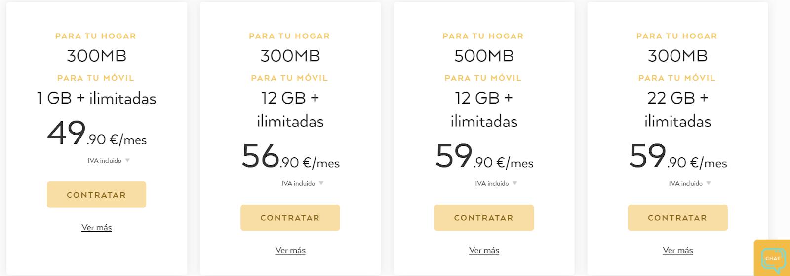 Oniti tarifas fibra y móvil