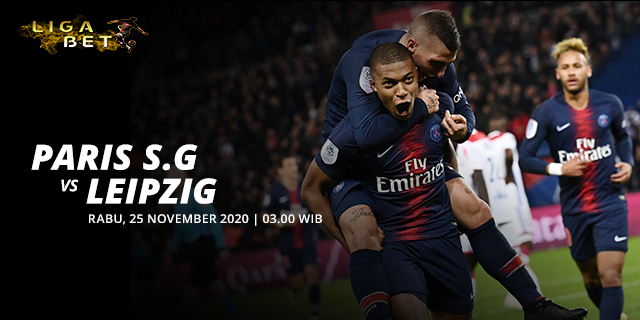 PREDIKSI PARLAY PARIS SAINT GERMAIN VS LEIPZIG RABU 25 NOVEMBER 2020