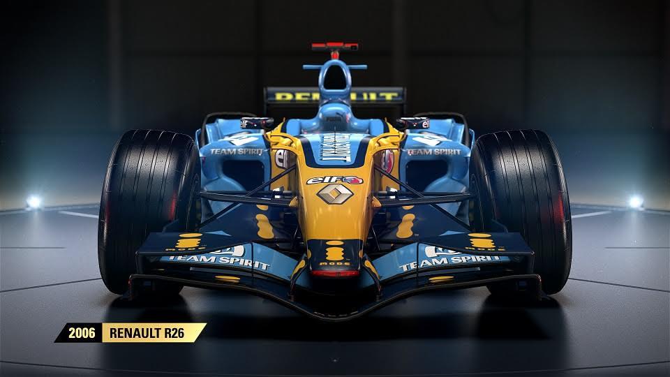 F1 2017 nos transporta al pasado con el Renault que usó Alonso para ganar su segundo mundial