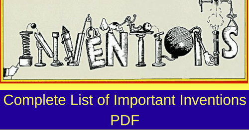 Inventions and Discoveries List