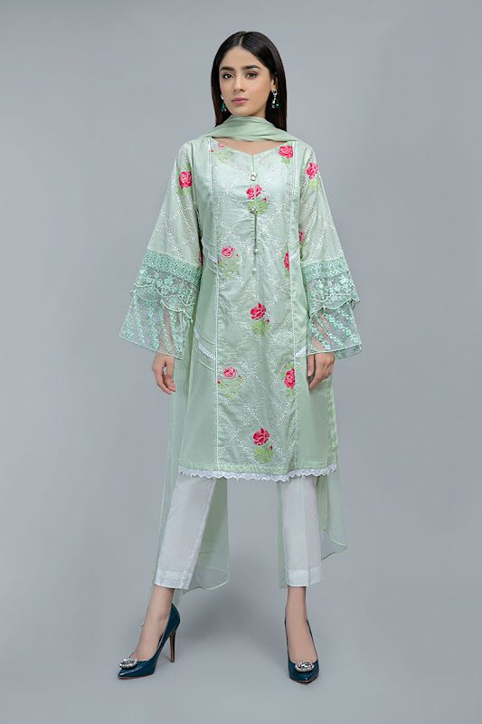 Maria B Green suit Lawn summer collection